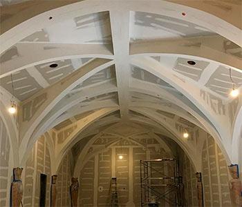 Гипсокартон потолок арка