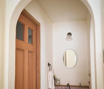 Арка из гипсокартона в ванной