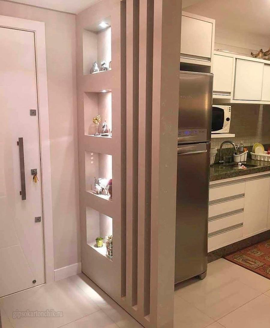 Kitchen Partition Design: Ниши из гипсокартона (45 фото)
