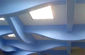 Потолок необычного дизайна