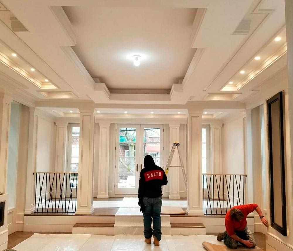 фото и дизайн гипсокартонные потолки в холле здорова неутомима, очаровательна