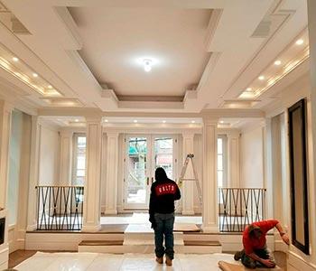 Трёхуровневый потолок из гипсокартона