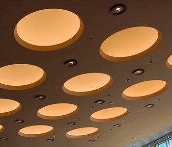 Потолок с кругами