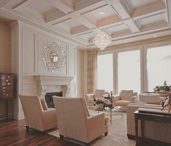 Классический потолок в частном доме