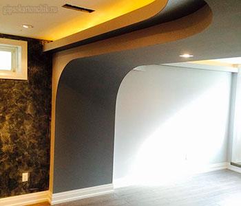 Потолок из гипсокартона галерея #7
